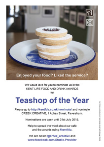 Teashop of the Year Poster